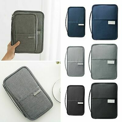 Waterproof Passport Holder Travel Document Wallet RFID Bag Family Organizer YR
