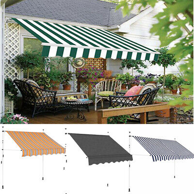 Retractable Manual Awning Canopy Outdoor Patio Garden Porch Sun Shade Shelter UK