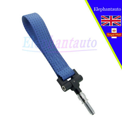 1pcs For ALL BMW Car Trailer Ring Tow Hook Towing Rope Strap 5000lb Blue