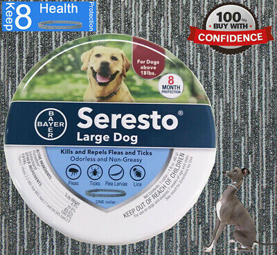 Bayer Seresto Flea and Tick Collar  for Large Dog over 18 lbs 8 Month Protection