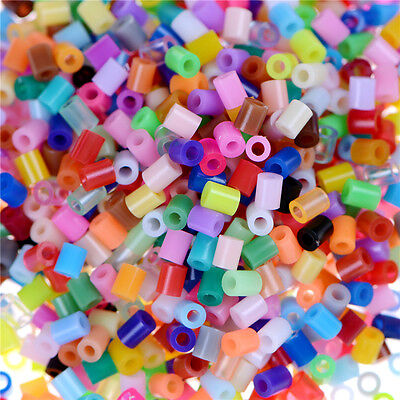 Hot 1000X DIY 2.6mm Mixed Colours HAMA/PERLER Beads for GREAT Kids Fun Craft WD