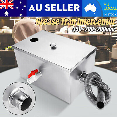 □□ 8LB Grease Trap Stainless Steel Interceptor For Restaurant Kitchen Wastewater