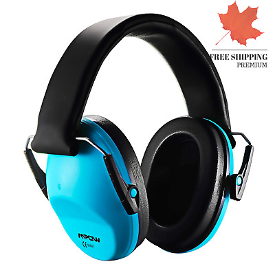 Soundproof Comfortable  Blue Earmuffs For Kids w/ Adjustable Compact Headband