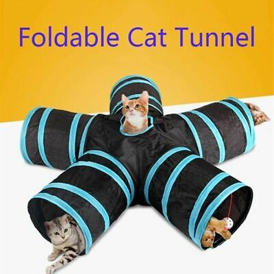Cat Tunnel Pet Funny Toys Kitten Rabbit Puppy Dog Play Tube 2-5 Holes Foldable