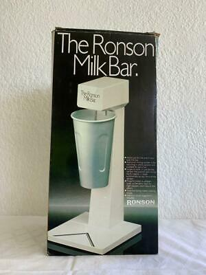 GREAT VINTAGE RETRO THE RONSON ELECTRIC MILKSHAKE MAKER MILK BAR Model 8350
