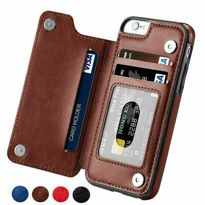 Leather Card Magnetic Wallet Case Flip Cover For iPhone 11 Pro Max 6 7 8 Plus XR