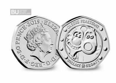 WALLACE AND GROMIT 50p COIN 2019 30TH ANNIVERSARY BUNC SEALED 🎄1DAY AUCTION 🎄