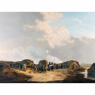 Van Os Demilune Constructed Siege Naarden Painting Large Wall Art Print 18X24 In