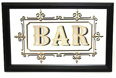 Art Deco 1920s Vintage Style Mirrored Bar Sign - Decorative Drinks Plaque
