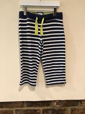 Mini Boden Lovely Navy Blue & White Striped Trousers Age 6yrs Good Condition