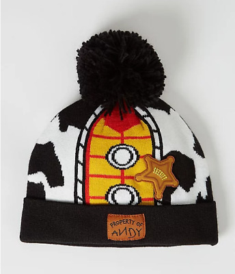 Toy Story 4 Woody Bobble Hat Winter Set Boys 1-6 Years NEW
