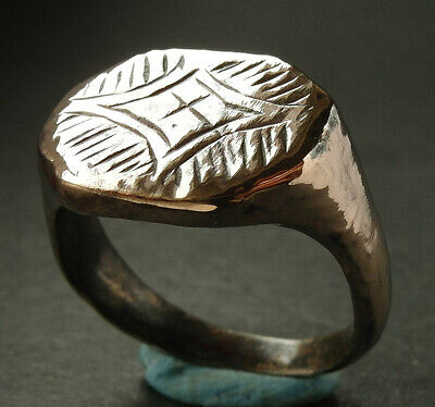 Beautiful genuine ancient Medieval bronze ring - wearable