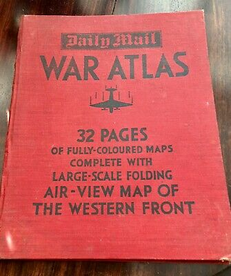 War atlas with map