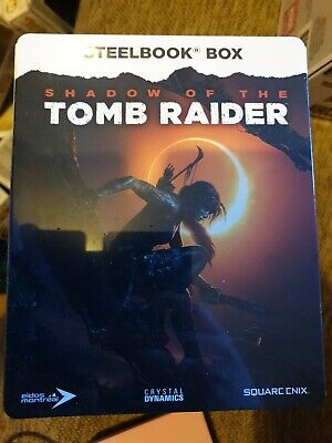 Shadow of The Tomb Raider Steelbook ONLY + 3 Art Cards  PS4/XBOX ONE (NO GAME)