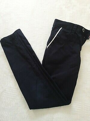 Guess Boys 8-9  Years Slim Fit Smart Trousers Navy Blue