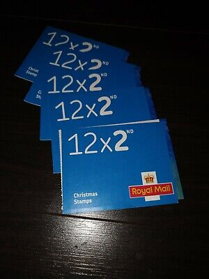 12 x 2nd class stamps - 5 booklets!