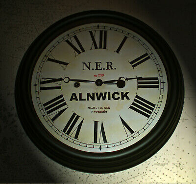 North Eastern Railway, NER Victorian Style Waiting Room Clock, Alnwick Station.
