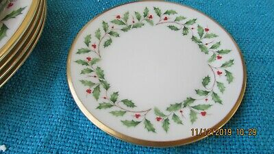 Lenox Holiday Holly Berry Bread & Butter Plate 6 1/2