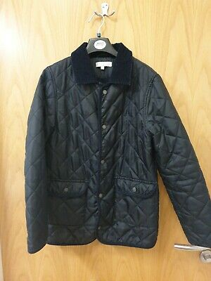 Jasper Conran  Boys Black Quilted Pattern Padded Jacket Age 11-12 Years