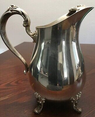 Vintage Countess Water pitcher Water, Ice Guard by Poole Silver Co.