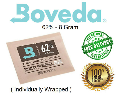 Boveda 2-way Humidity Pack | 62% RH | 8gram  + Free Shipping!