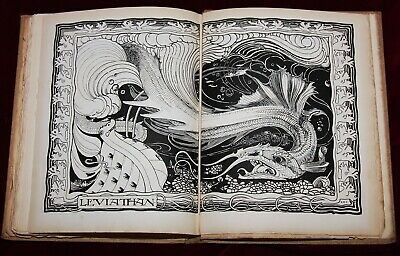 EXRare ARTS & CRAFTS BOOK OF JOB Art Nouveau 1ST 1896 GRANVILLE FELL MASTERPIECE
