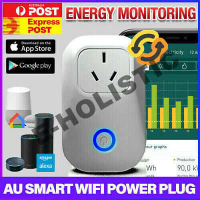 AU Plug Wifi Smart Power Socket Outlet Switch APP For ECHO ALEXA GOOGLE HOME