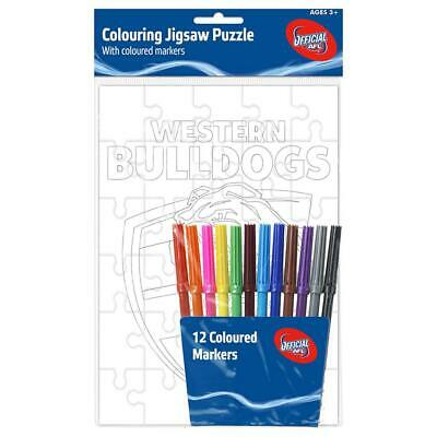 Western Bulldogs Puzzle And Marker Set
