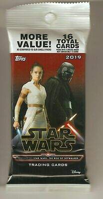 2019 Topps Star Wars Journey To Rise Of Skywalker  1/1 Printing Plate Hot Pack