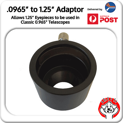 """0.965"""" to 1.25"""" Eyepiece Adaptor for Telescope (24.5mm-->31.75mm)"""