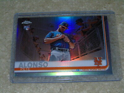 2019 Topps Chrome Factory Set Pete Alonso Refractor Rookie #475 RARE