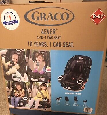 Graco 4Ever 4-in-1 Convertible Car Seat Dunwoody Green Manufactured July 2019