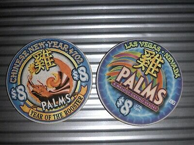 Casino Chip Palms $8 Year Of The Rooster