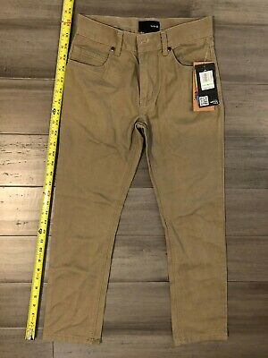 """NWT Hurley boys 84 jeans slim chino pants size 8 26"""" 100% cotton retails $40"""