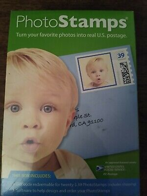 Personalized Photo Custom Print Stamps.Com CD 20 x 39 cent USPS Postage Incl