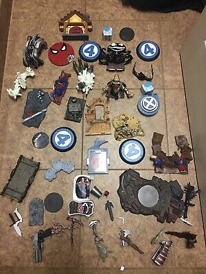 Marvel Lefends Bases Stands Neca Dc Collectibles Huge Lot Accessiores