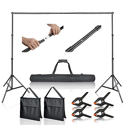 Photo Video Studio 10Ft Adjustable Background Stand Backdrop Support System US