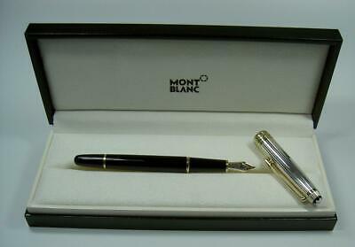 Montblanc Meisterstuck Solitaire Doue Sterling Silver Pinstripe Fountain Pen
