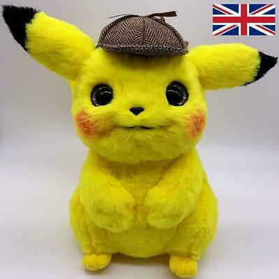 Licensed 28cm Large Detective Pikachu Plush Soft Toy Great Gift Fast Shipping