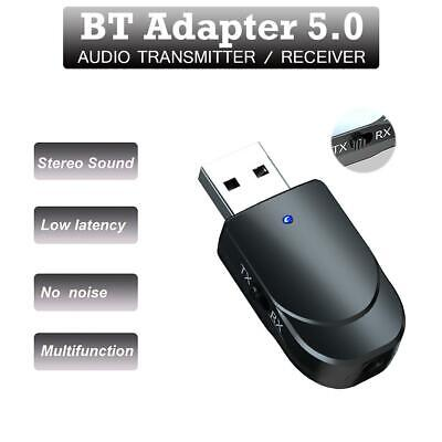 USB Bluetooth 5.0 Audio Receiver Adaptor Wireless Music 3.5mm Dongle AUX TV PC