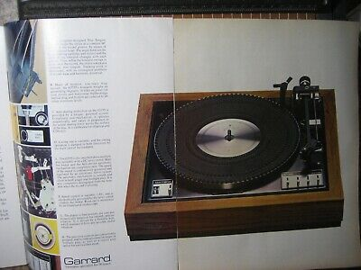 Garrard GT-55 Original Turntable Ad & Lab Report