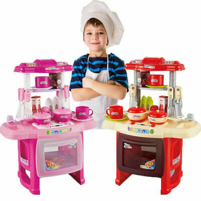 Kids Portable Electronic Kitchen Cooking Girls Toys Cooker Play Set Toy 2-3 Days