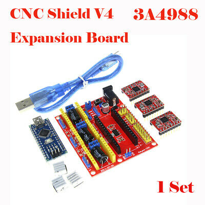 3D Printer Kit For CNC Shield V4 Engraving Machines A4988 Expansion Board