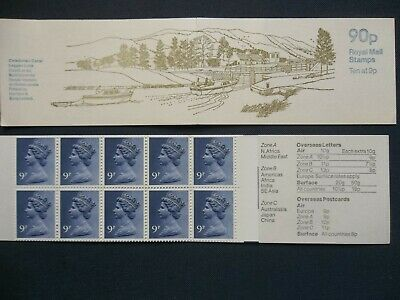 Fg5B Caledonian Canal 90 Pence Right Margin Gb Stamp Booklet Vcl