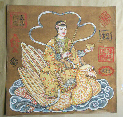 C. Old Hand Painted Asian Samurai? ,China,Japan, Asia Scroll Oriental Japanese