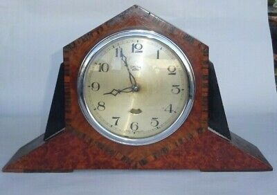 Smith's Electric Art Deco Wooden Mantle  Clock