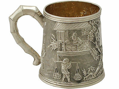 Chinese Export Silver Christening Mug - Antique Circa 1800