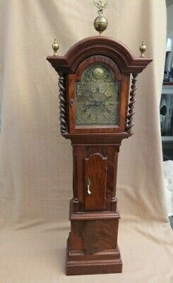 Very Unusual Antique Twin Fusee 50 Inch Longcase Clock For Restoration