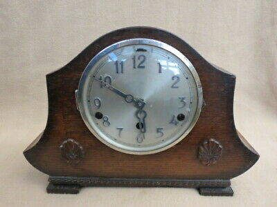 Vintage Westminster Chime German Art Deco Mantel Clock For Spares Or Repair