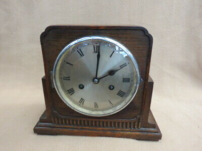 Vintage Art Deco Striking Mantel Clock For Spares Or Repair